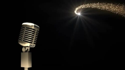 Microphone and shooting star