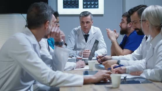 Thumbnail for Doctors Having a Meeting