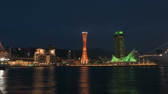 Thumbnail for Kobe Port Tower In City Night