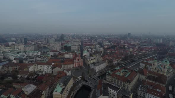 Thumbnail for High angle view of Ljubljana