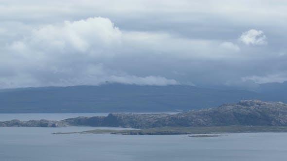 Panoramic view of the Isle of Skye