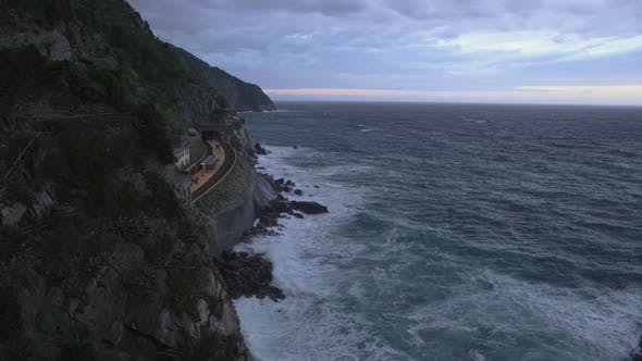 Thumbnail for Beautiful view of Manarola train station and Mediterranean sea, Cinque Terre