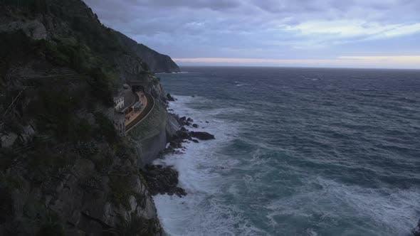 Thumbnail for Beautiful view of Manarola train station and Mediterranean sea, Cinque Terre