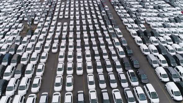 Thumbnail for New Unsold Cars Aerial View