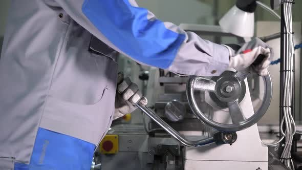 Thumbnail for Metalworking Lathe Machine in Use