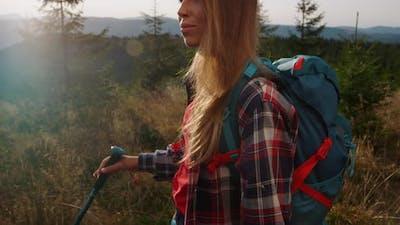 Tourist Trekking in Mountains