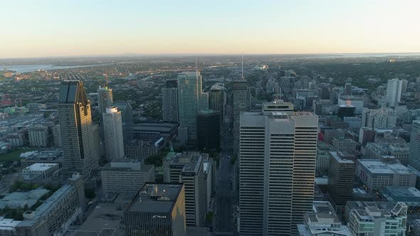 Thumbnail for Aerial shot of Downtown Montreal