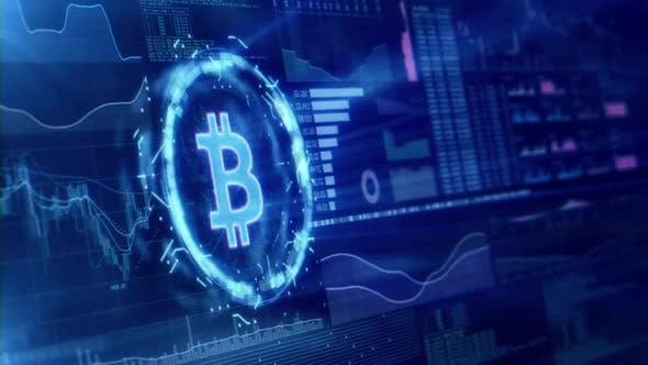 Thumbnail for Bitcoin Digitaler Hintergrund