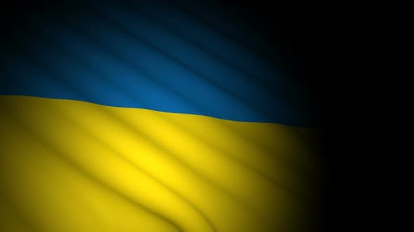 Cover Image for Ukraine Flag Blowing in Wind
