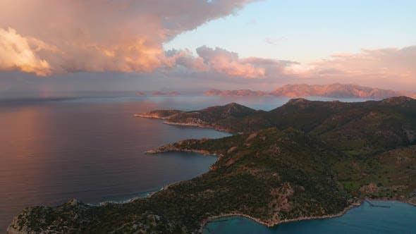 Aerial View of Bay Bozukkale Turkey