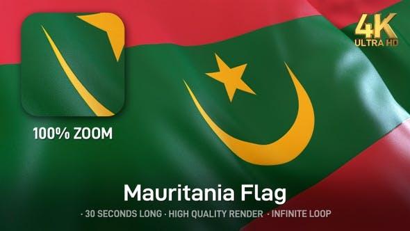 Thumbnail for Mauritania Flag - 4K