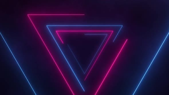 Thumbnail for Retro Neon Triangles Loop