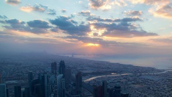 Dubai Sunset Skyline Time-lapse