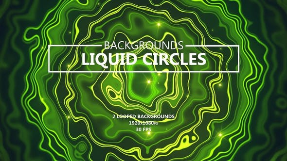 Liquid Circles Smooth Green Backgrounds