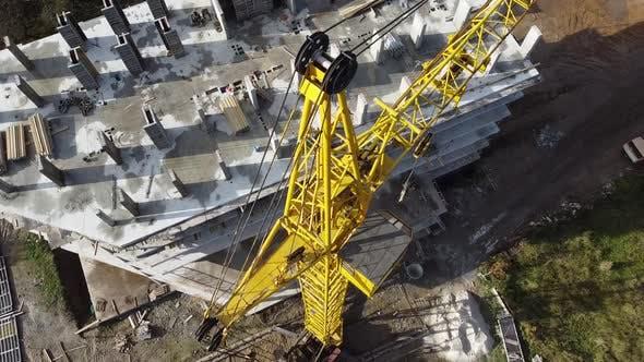 Tower crane on construction plant 8