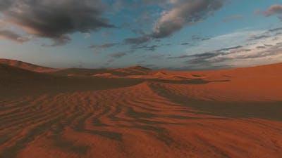 Desert Scenery At Dusk