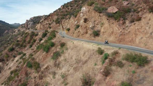 Motorrad Im Gebirge