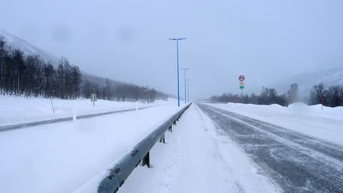 Snow Covered Slippery Road