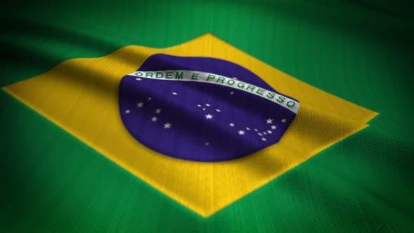 Brazil Flag Seamless Loop