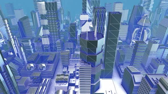 Thumbnail for Geometric laser metal city