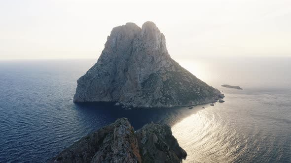 Thumbnail for Famous Cliff and Ocean in Ibiza with Sunlight in Background