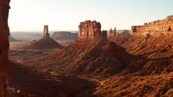 Thumbnail for Aerial shot of the amazing rock formations on southern Utah.