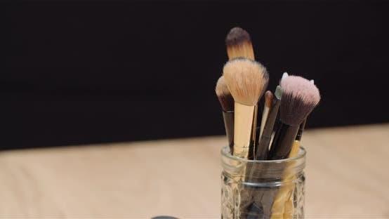 Thumbnail for Makeup Brush Set on Table Rotating