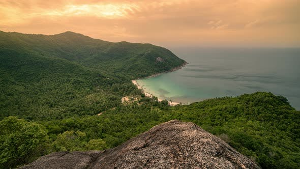 Thumbnail for Sunset at Viewpoint to the Bottle Beach, Koh Phangan Island, Thailand