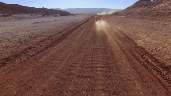 Thumbnail for The Fast Aerial Pursuit of the Vehicle in the Moon Valley. Atacama Desert, Chile