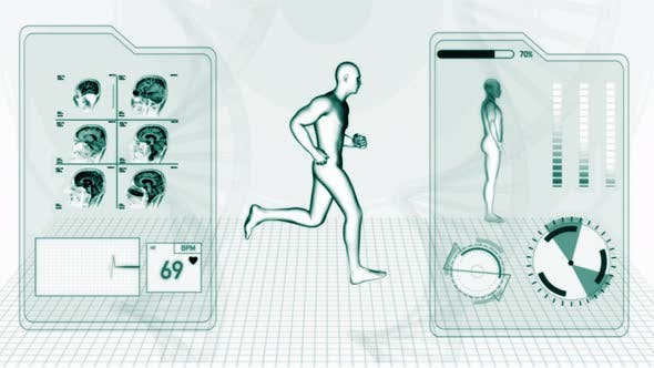 Cover Image for X-Ray Radiology Scan of Human Body and Brain Health Data Infographic