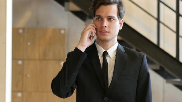 Thumbnail for Businessman Phone Talk in Office, Work