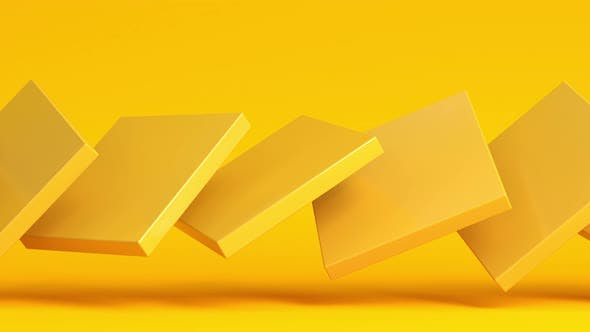 Thumbnail for Abstract modern composition with random yellow box rectangles