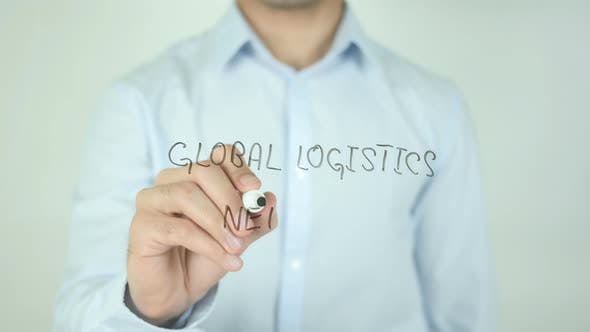Thumbnail for Global Logistics Network, Writing On Screen