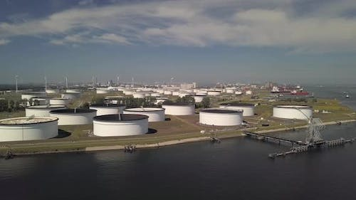 Aerial of a terminal for storage of mineral oil products and chemicals at