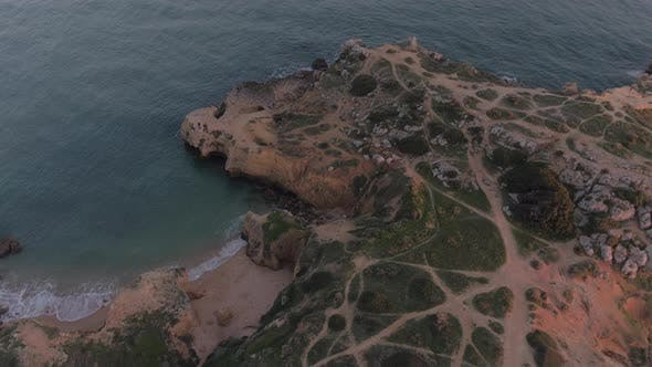 Thumbnail for Aerial view of paths on the coastline