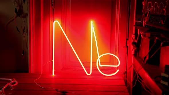 Neon Light Turning On.