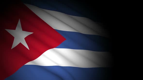 Thumbnail for Cuba Flag Blowing in Wind