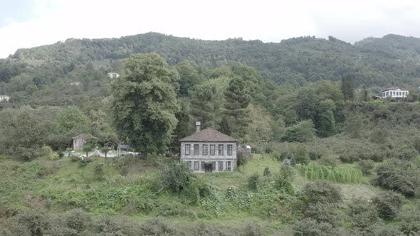 Thumbnail for Trabzon City Old House Forest And Mountains Aerial View