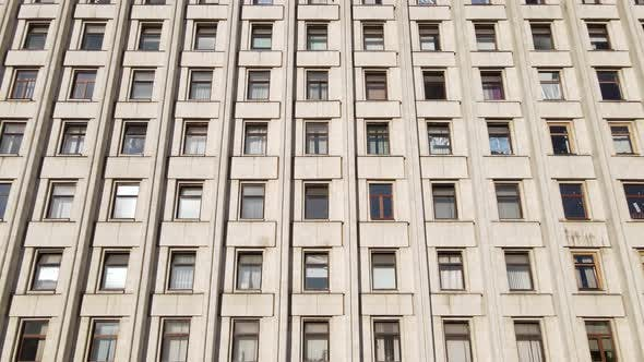 Thumbnail for Many Windows of a Building Built in the Style of the Former USSR