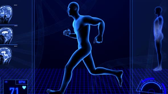 Thumbnail for Male Person Running for Medical Fitness Sports Endurance Heart Rate