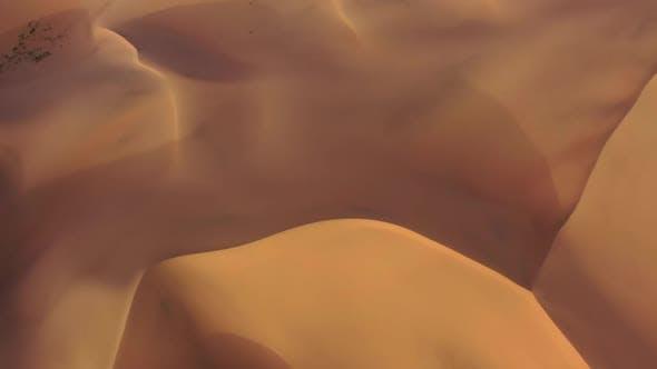Thumbnail for Aerial Top View on Sand Dunes in Gobi Desert