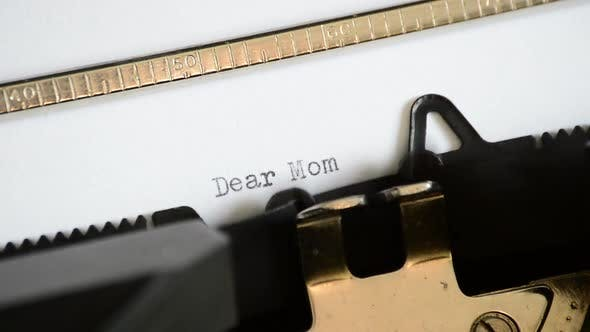 Typing the Expression Dear Mom