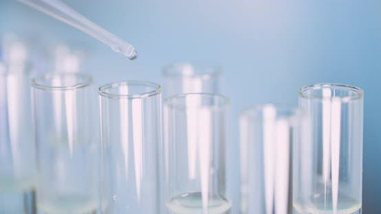 Thumbnail for Extreme Closeup of Scientist Using Pipette at Laboratory