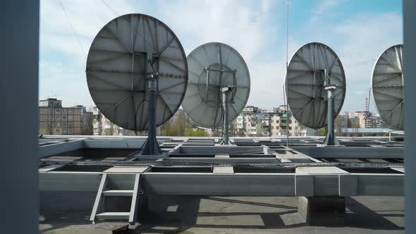 Thumbnail for Industrial Satellite Dishes on the Roof of a Building