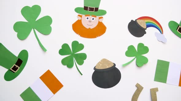 Thumbnail for St Patricks Day Decorations on White Background
