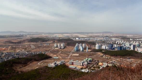Thumbnail for Incheon Stadtbild Metropolis Sehenswürdigkeit Korea Zeitraffer
