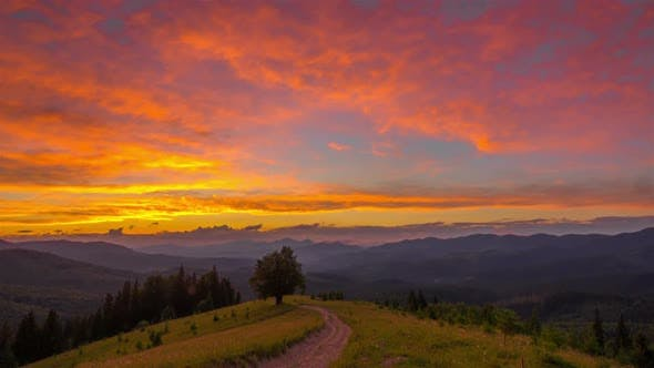 Thumbnail for Sunset Sky in the Mountains