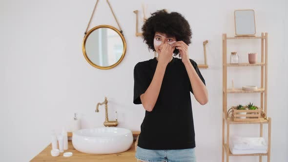 Skin Care Cosmetics at Home Natural Cream Spa Treatments Mixed Race