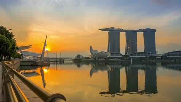 Thumbnail for Marina Bay and Sands SkyPark at Dawn