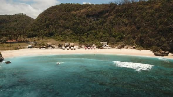 Cover Image for Aerial View Beautiful Beach. Nusa Penida